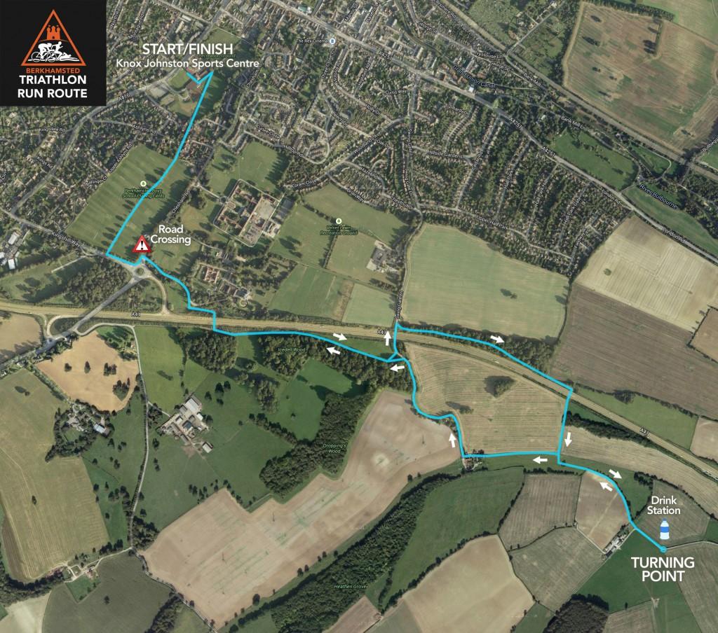 Berkhamsted Triathlon Run Route